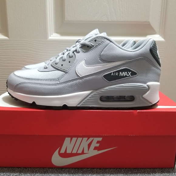 best loved cb6ef 93eca Nike Air Max 90 Dark Wolf Grey White Shoes